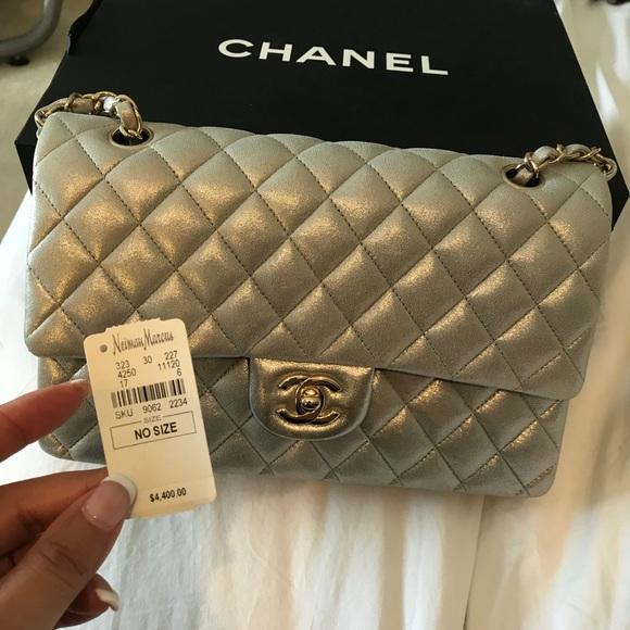 183f2f40782d CHANEL Handbags - Chanel quilted silver bag!
